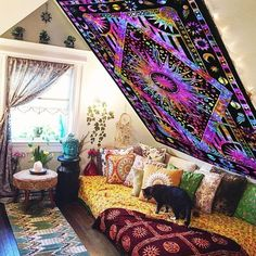 magical night tie dye tapestry wall hanging college room sun moon wall tapestries