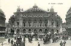 Paris France 1904 Opera House Charles Garnier Designer Antique Vintage Postcard