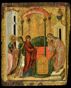 This Cretan icon of the Presentation of Christ in the Temple x cm) is on show at Morsink Icon Gallery from 12 December – Greek Icons, Gospel Of Luke, Italian Paintings, Russian Icons, High Priest, John The Baptist, Orthodox Icons, Triptych, Temples