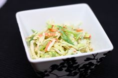 This has WOW flavor ! Serve this next to any Asian inspired dish (Asian Grilled Chicken comes to mind) for a great salad that takes over every tastebud in your mouth ! 8 servings 60 calories per serving 1/3 c Miracle Whip light 2 T KRAFT Light Asian Toasted Sesame Dressing (I use this dressing…