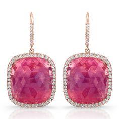 Pink sapphire earrings from Rahaminov diamonds
