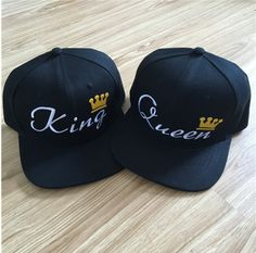 04d94ab8738 KING QUEEN snapback hat baseball cap perfect for couples Funny Sports  Pictures