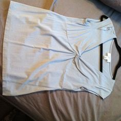 Light blue Loft shirt. Light blue Loft shirt, size medium.  Great shirt for spring and summer, wears well under blazer or jacket, perfect for the office. LOFT Tops