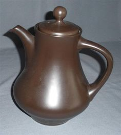 NORITAKE FOLKSTONE SAFARI BROWN COFFEE POT TEAPOT VINTAGE DINNERWARE RETRO OLD picclick.com