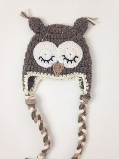 7e2f4b6df64 1st Photo Hat. Woodland Animal Hat. Infant Owl Hat. First Photo Hat. Baby  Crochet Outfit Animal. Newborn Take Home Outfit. PH16F01