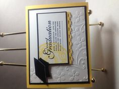 Happy Graduation and Gossamer Lace. Daffodil Delight and Elegant Bouquet.
