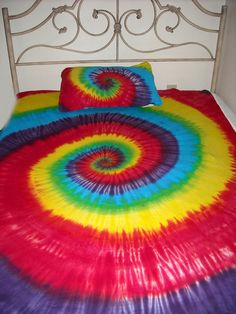 Custom Tie Dye Hippie Queen Bed Sheets 4PC Kids Adult by TDFT