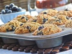 Bananaberry Bombs: You'll be blown away by the great taste and moist texture of these banana-blueberry muffins! Flavor explosion! Ka-pow!