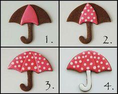 Umbrella Cookie - Tutorial
