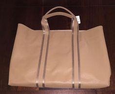 NWT Vintage Bottega Veneta Tan Tote Bag Handbag Purse Made In Italy Rare Find #BottegaVeneta #TotesShoppers