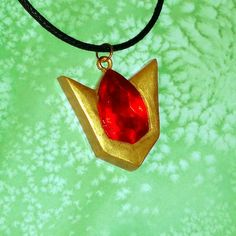 Legend of Zelda - Goron Ruby Spiritual Stone Necklace | YellerCrakka - Jewelry on ArtFire