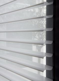 There's got to be a way to do some DIY ones with pre existing wooden blinds and some sheer fabric. Drapes And Blinds, House Blinds, Bamboo Blinds, Wood Blinds, House Windows, Blinds For Windows, Drapes Curtains, Window Drapes, Drapery