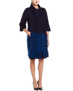 Spotted this Lela Rose Sapphire Feather Embellished Coat on Rue La La. Shop (quickly!).