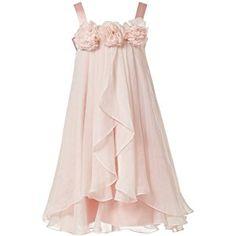 Princhar Girl's Blush Pink Flower Girl Dress Girls Toddler Party Dresses