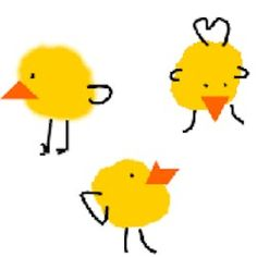 Thumbprint Chicks Craft - as a matching math activity.