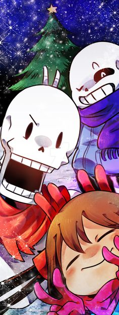 Sans, Papyrus and Frisk | Artist Onieon
