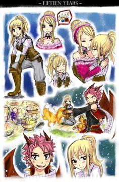 Lucy Heartfilia and Natsu Dragneel - Nalu Rog Fairy Tail, Fairy Tail Amour, Fairy Tail Natsu And Lucy, Fairy Tail Love, Fairy Tail Nalu, Fairy Tail Guild, Fairy Tail Ships, Couples Fairy Tail, Natsu Et Lucy