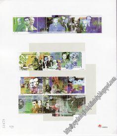 Folha de selos de Portugal com selo de Freud