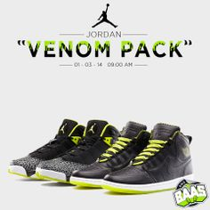 """Jordan """"Venom Pack""""  Release: 03-01-14  www.sneakerbaas.nl"""