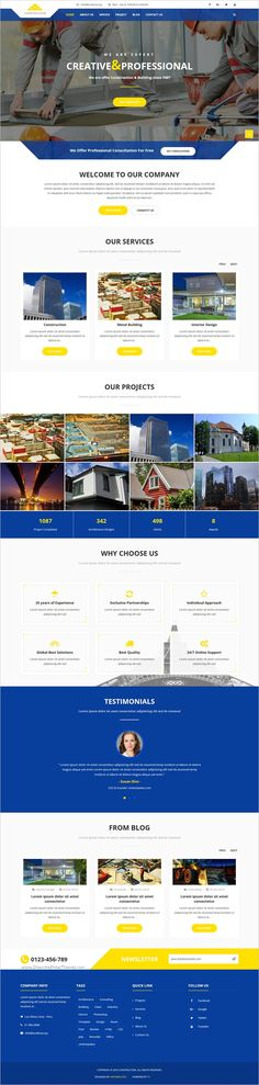 Civil Engineering Company #website #template #themes #business - how to create a website template