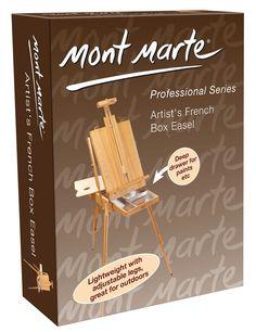 The Mont Marte traditional French Box Easel is a superb addition to your art studio, along with its functionality it also holds the old world french charm! Made from quality Beech wood Extra large size Folds down for easy storage Contains a draw for Floor Easel, Table Easel, Art Shed, Art Easel, Easels, Are You The One, Flooring, French, Business