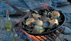 This seafood paella recipe from Rick Stein actually uses risotto rice as a base for lobster, mussels, monkfish fillet and slices of squid. Grilled Sardines, Lamb Chops, Roast Lamb, Rick Stein, Spanish Desserts, Slow Cooked Lamb, Fish Pie, Seafood Paella, Paella Recipe