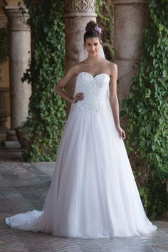 Beaded Lace Sweetheart Ball Gown STYLE 4034