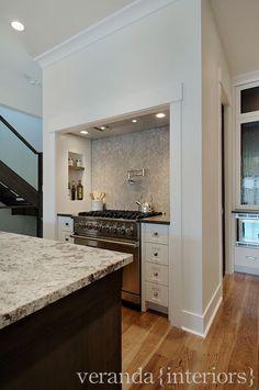 veranda interiors- herringbone backsplash