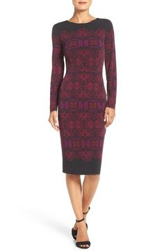 Maggy London Print Jersey Sheath Dress available at #Nordstrom