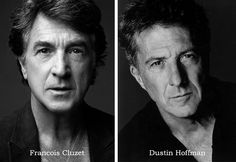 """Francois Cluzet from """"The Intouchables"""" & Dustin Hoffman look incredibly alike, don't they? #doppelganger"""