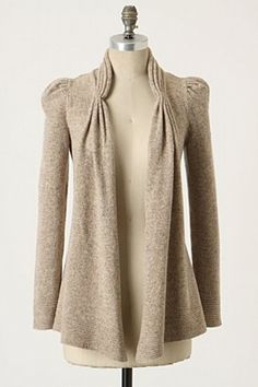 Lady's Choice Cardigan  classic casual, and I love the detail in the collar and shoulder seams
