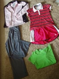 womens ADIDAS activeware,5pieces, size med/lrg, free ship