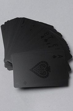 All Black Everythang...omg i love black, i love cards...must have these