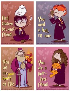 harry potter valentines... so cute!