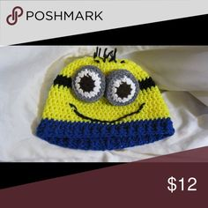 88b6cc9cb6b Minion beanie This beanie is hand knitted. And super cute Accessories Hats Minion  Beanie