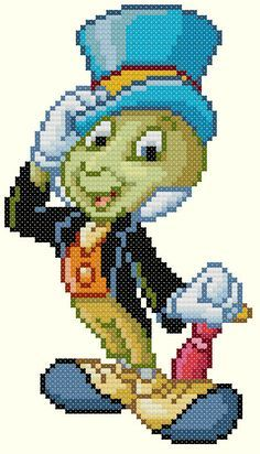 Jiminy Cricket Cross Stitch Pattern-Disney by KeenahsCrossStitch