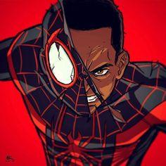 The Ultimate Spider-Man Marvel Comics, Comics Anime, Marvel Art, Marvel Heroes, Comic Superheroes, Black Spiderman, Spiderman Spider, Spiderman Marvel, Ultimate Spider Man