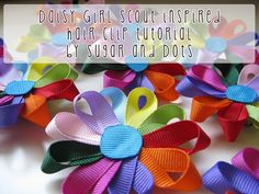 Hello Mess: Daisy Girl Scout Inspired Hair Clip Tutorial