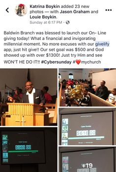 We are excited to see the success Baldwin Branch Missionary Baptist Church had with launching the Givelify donation app at their place of worship. Thank you for allowing us to help modernize your church giving! Missionary Baptist Church, Place Of Worship, Setting Goals, Non Profit, Giving, Fans, Product Launch, Success, Followers