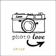 Camera Photo Love Stamp by Evalicious - Two Peas in a Bucket