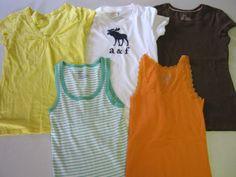 Girl Shirts Size 16 5 pc Lot Abercrombie & Fitch Gap Arizona