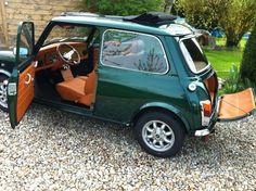 Mini Cooper Custom, Mini Cooper Sport, Rover Mini Cooper, Mini Cooper Classic, Classic Mini, Classic Cars, Mini Cabrio, British Open, My Dream Car