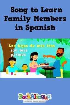 Spanish family vocabulary is easy to learn with this free song. There is a printable of the words with pictures for kids to color.