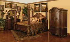 """like this """"regal canopy"""" bedroom collection from hemisphere's"""