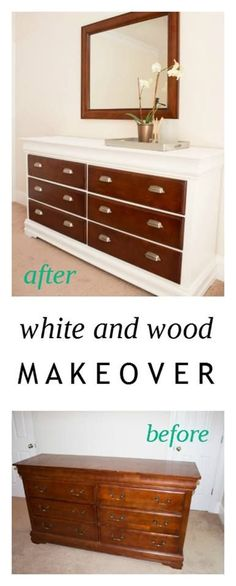 dresser makeover - painted dresser - white dresser