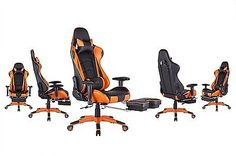 Top Gamer Ergonomic Gaming Chair High back Swivel Computer Office Chair with Foo