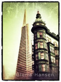 Transamerica Building and Columbus Tower (Sentinel Building), San Francisco, by Gloria Hansen