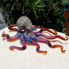 Octopus Glass Sculpture by FullBlownGlass on Etsy