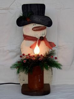 Wooden Snowman Christmas Snowman Decoration by countryprim on Etsy, $38.00