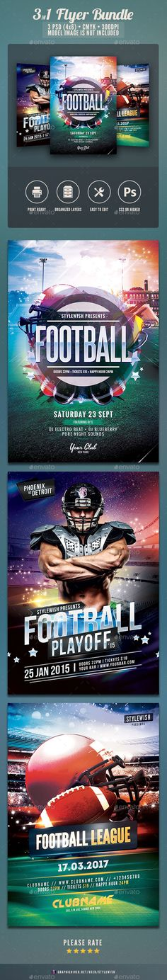 American Football Flyer Bundle - Sports Events